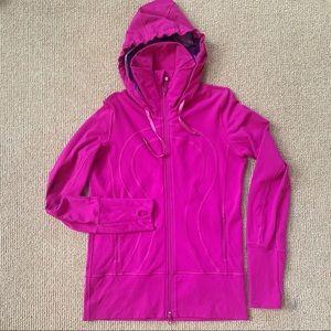 Lululemon Stride Jacket, Dewberry/Purple Stripe, 8